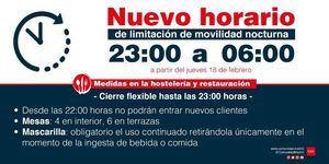 La Comunidad retrasa desde este jueves el toque de queda a las 23.00 horas y permitirá abrir establecimientos hasta las 22.00 horas