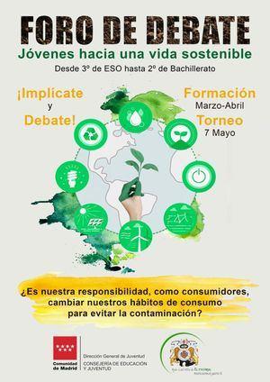 Los estudiantes de Secundaria de El Escorial debaten sobre cambio climático en un torneo online