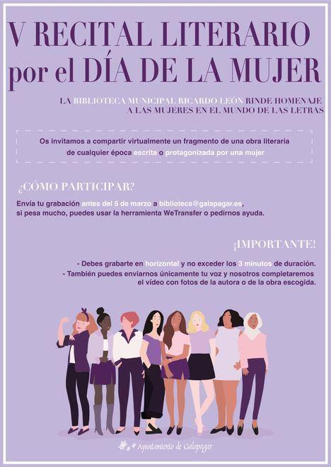 La Biblioteca Ricardo León de Galapagar organiza un vídeo-recital con motivo del Día de la Mujer