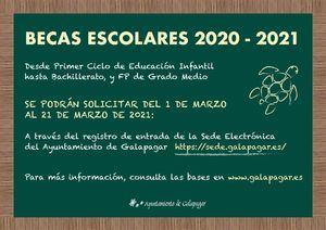El Ayuntamiento de Galapagar convoca las Becas Escolares para el curso 2020-2021