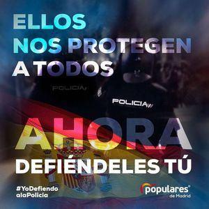 El PP de Collado Villalba recoge firmas en apoyo a las Fuerzas y Cuerpos de Seguridad del Estado