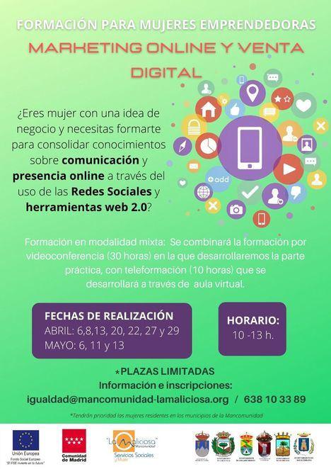 Guadarrama organiza un taller gratuito de Marketing Online y Venta Digital para mujeres