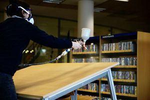 Las Biblioteca Leon Tolstoi de Las Rozas probará un nuevo producto nanotecnológico contra el COVID19