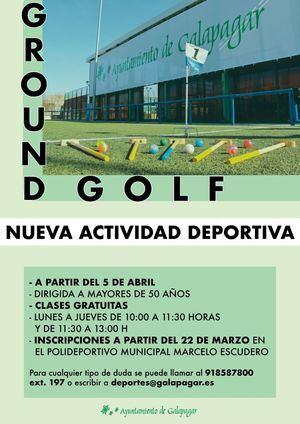 Galapagar incorpora a la oferta de la Concejalía de Deportes el Ground Golf