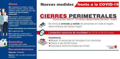 La Comunidad de Madrid, cerrada hasta el 21 de marzo por el puente de San José