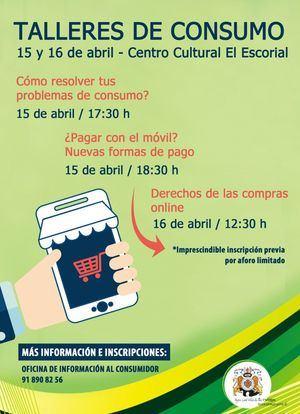 Talleres gratuitos en El Escorial sobre pagos con móvil, compras online y derechos del consumidor