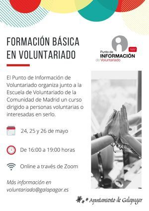 Galapagar ofrece un curso online de formación básica en voluntariado