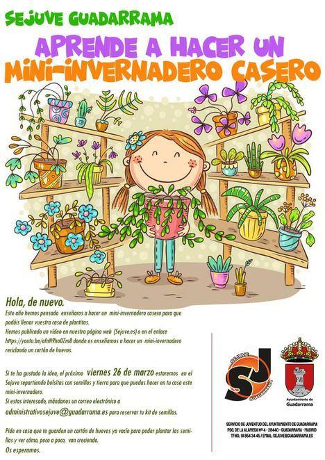 'Aprende a hacer un mini-invernadero', nueva propuesta del SEJUVE para los más pequeños