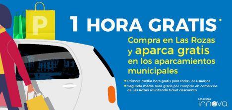 Desde el 1 de abril, Las Rozas Innova ofrece una hora gratis en los aparcamientos municipales
