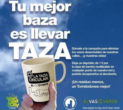 De bambú, ecológica y reutilizable: Torrelodones lanza la campaña 'La taza circular'