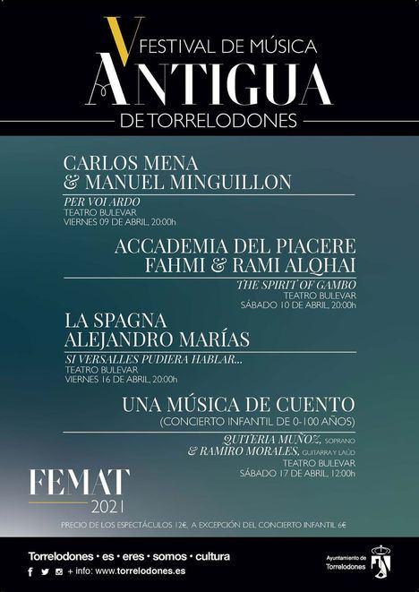Del 9 al 17 de abril se celebra en Torrelodones el V Festival de Música Antigua, FEMAT