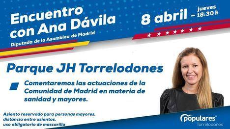 El PP de Torrelodones organiza un encuentro de la diputada Ana Dávila con los mayores de la localidad