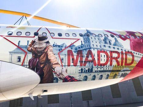San Lorenzo volará por todo el mundo como imagen turística de la Comunidad de Madrid en un Airbus de Iberia