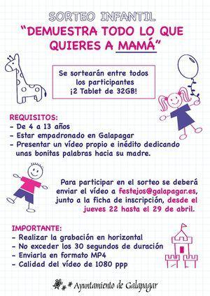 'Demuestra todo lo que quieres a mamá': concurso infantil de Galapagar por el Día de la Madre