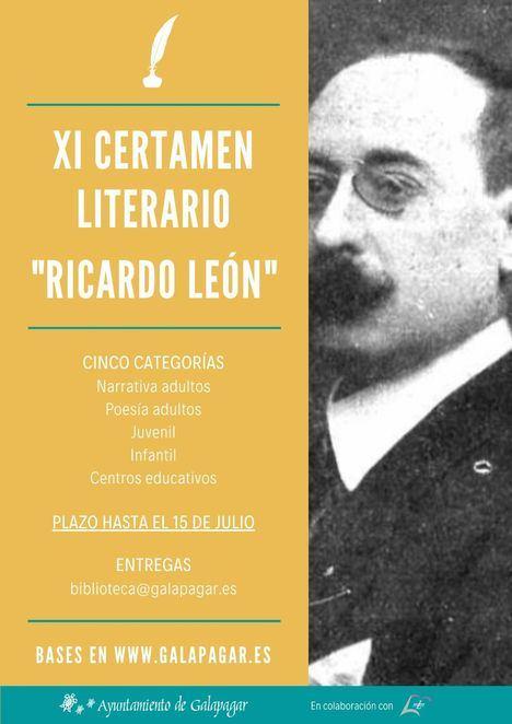 Galapagar convoca el XI Certamen Literario Ricardo León