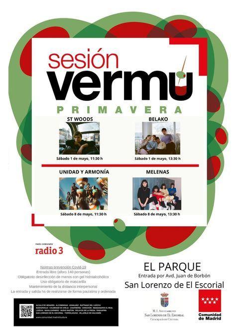 En mayo vuelven los conciertos de Sesión Vermú a El Parque de San Lorenzo de El Escorial