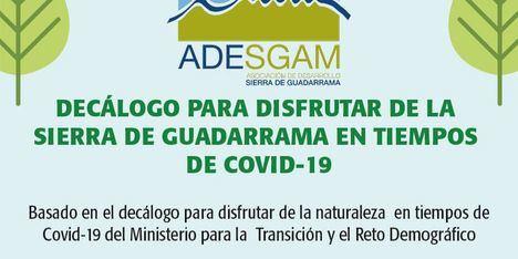 ADESGAM recomienda hacer un uso responsable de la Sierra con su 'Decálogo para disfrutar de la Sierra de Guadarrama en los tiempos del COVID19