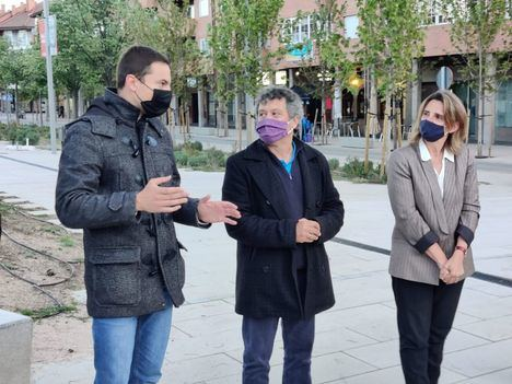 La ministra de Transición Ecológica, Teresa Ribera, visitó Collado Villalba