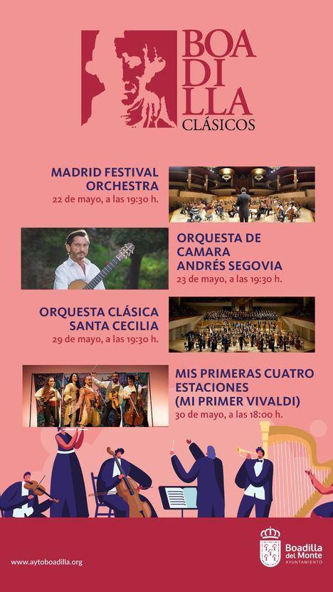 El Festival Boadilla Clásicos ofrecerá un Especial Orquestas entre el 22 y el 30 de mayo