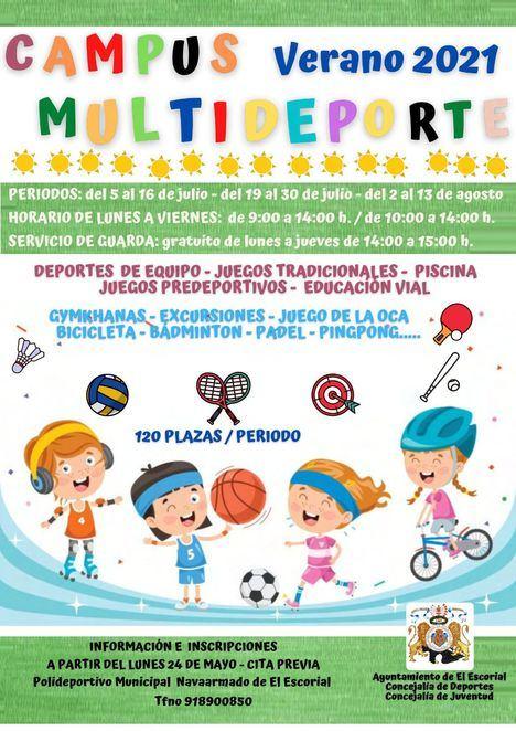 El Escorial propone un Campamento Multideporte para los meses de julio y agosto