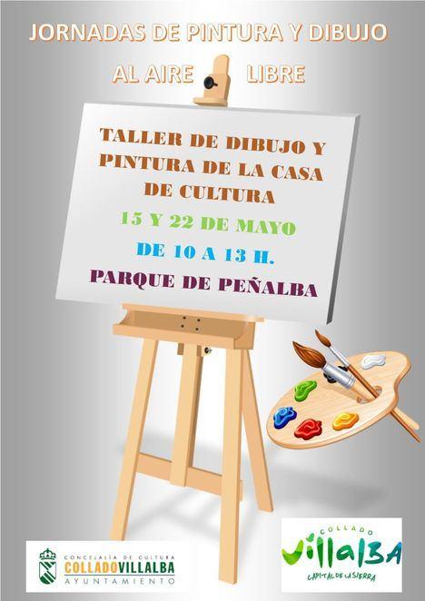 Los alumnos de dibujo y pintura de la Casa de Cultura de Collado Villalba salen a la calle
