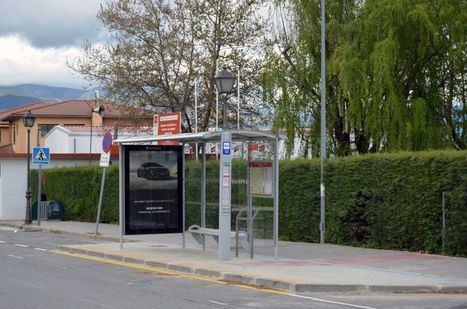 Nuevos trabajos de accesibilidad en las paradas de la red interurbana de Guadarrama
