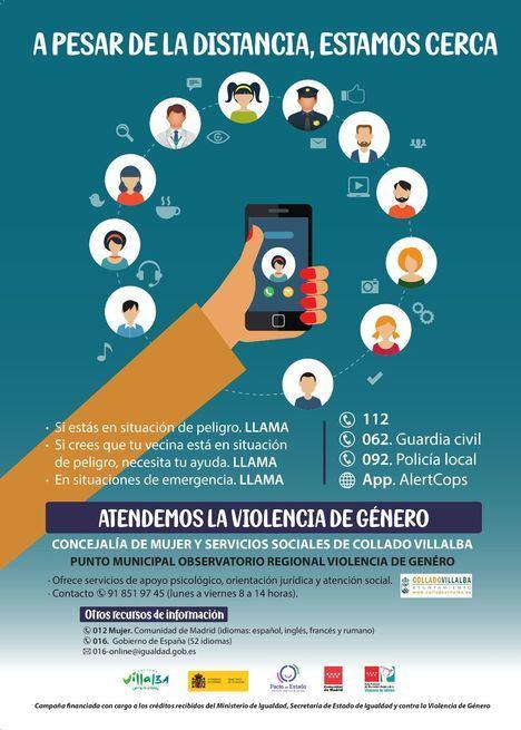 Collado Villalba lanza una campaña para informar sobre los recursos de atención a las víctimas de violencia de género