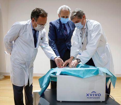 El Hospital Puerta de Hierro prueba con éxito un nuevo sistema de transporte de corazones para trasplantes