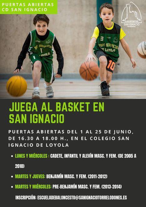 Jornadas de Puertas Abiertas en el Club de Baloncesto del Colegio San Ignacio de Torrelodones