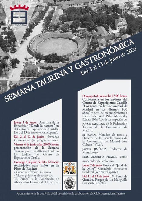 Del 3 al 13 de junio, El Escorial celebra su I Semana Taurina y Gastronómica