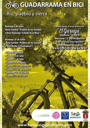 'Guadarrama en bici' se une a las propuestas de turismo activo de CiclaMadrid