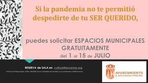 El Ayuntamiento de El Boalo cederá espacios a las familias que quieran celebrar homenajes a sus fallecidos