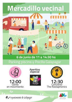 La Asociación Iniciativa por Galapagar organiza un mercadillo vecinal el domingo 6 de junio