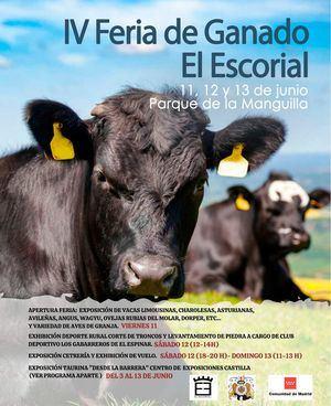 El Escorial celebra, del 11 al 13 de junio, la IV Feria del Ganado del municipio