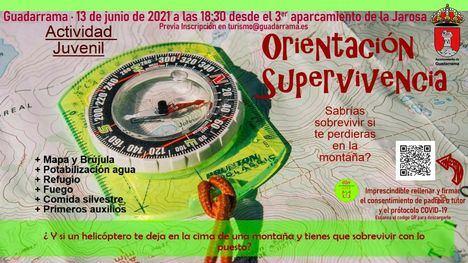 Guadarrama organiza una Jornada de Supervivencia y Orientación en la montaña para jóvenes