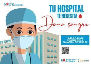 El Hospital de Collado Villalba y el Ayuntamiento colaboran en la Semana de la Donación de Sangre