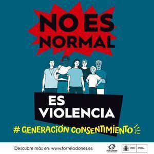 Torrelodones colabora con la campaña de sensibilización 'No es normal, es violencia'