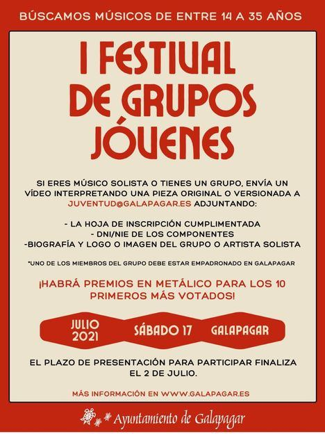 Juventud busca músicos para el Festival de Grupos Jóvenes de Galapagar