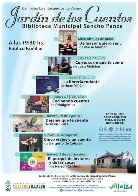 Los cuentacuentos infantiles se instalan durante el verano en la Biblioteca Sancho Panza de Collado Villalba