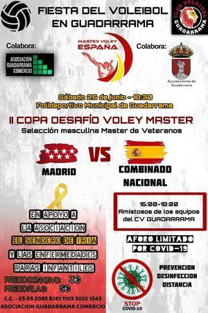 Deporte y solidaridad se unen en la II Copa Desafío Voley Máster de Guadarrama