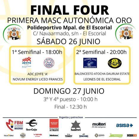 El polideportivo de Navaarmado de El Escorial acoge la Final Four Autonómica Masculina Oro de Baloncesto