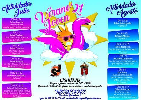 El Sejuve de Guadarrama presenta un completo programa de actividades para los jóvenes