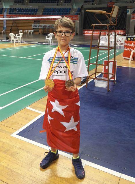 El joven Pablo Sanz, de Guadarrama, campeón de España de badminton sub 11