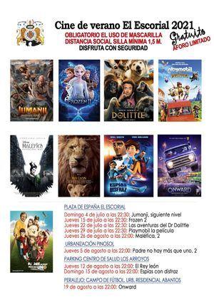 El Cine de Verano regresa a El Escorial durante los meses de julio y de agosto