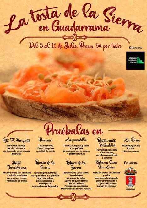 Hasta el 11 de julio, las mejores tostas de la Sierra se saborean en Guadarrama