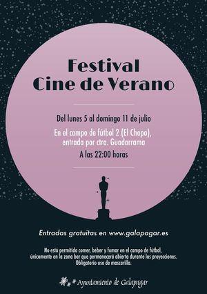 Esta semana, Festival de Cine de Verano en el campo de fútbol El Chopo de Galapagar