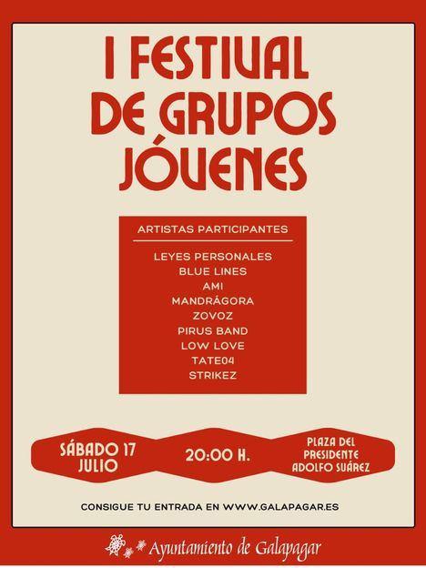 El I Festival de Grupos Jóvenes de Galapagar confirma a todos sus participantes