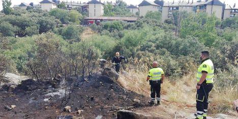 Sofocado con rapidez un conato de incendio en el Coto de las Suertes de Collado Villalba