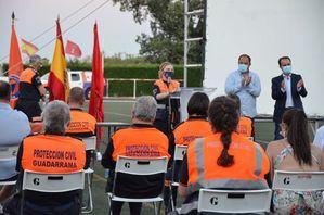 Guadarrama homenajea a los voluntarios de Protección Civil y del censo municipal por su entrega durante la pandemia