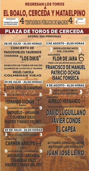 Los festejos taurinos regresan a El Boalo, Cerceda y Mataelpino hasta el 6 de agosto